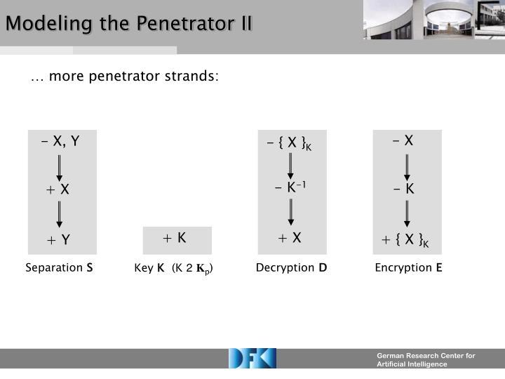 Modeling the Penetrator II