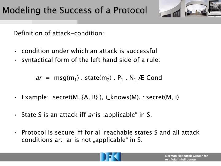 Modeling the Success of a Protocol