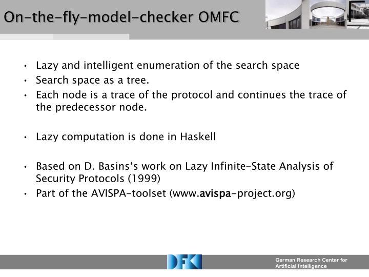 On-the-fly-model-checker OMFC