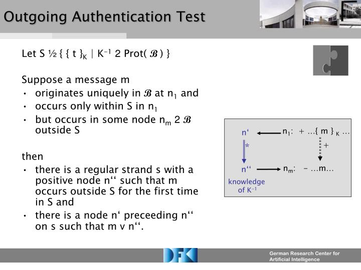 Outgoing Authentication Test