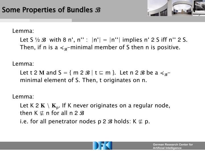 Some Properties of Bundles