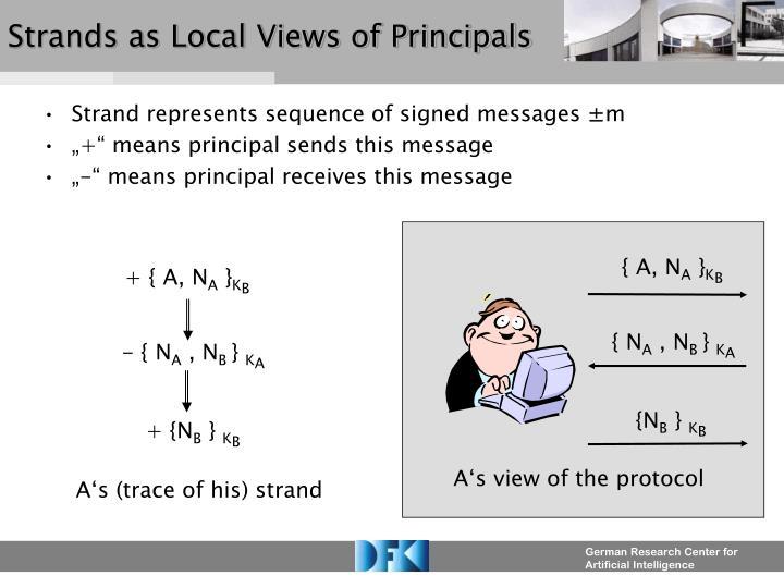 Strands as Local Views of Principals