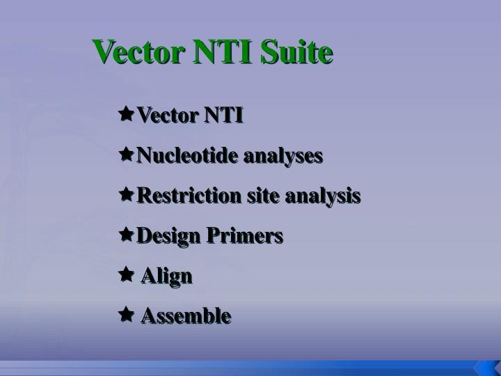 Vector NTI Suite