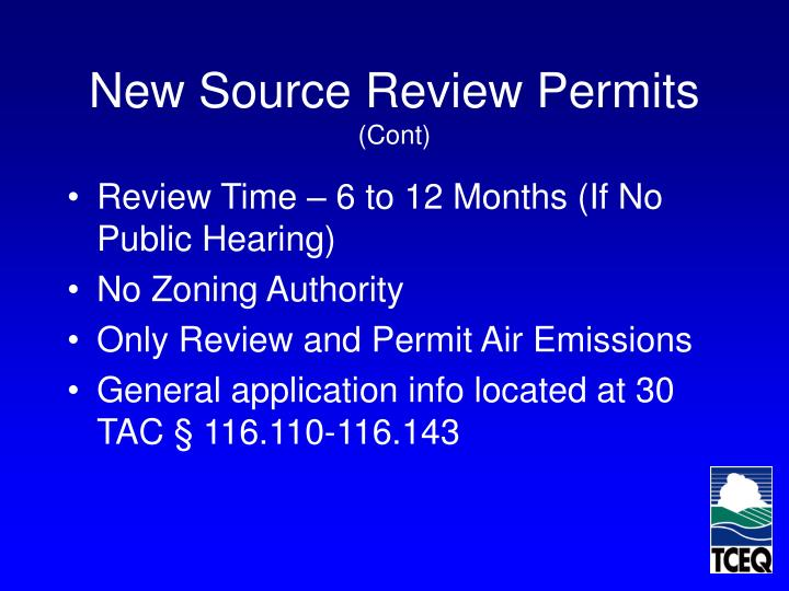 New Source Review Permits