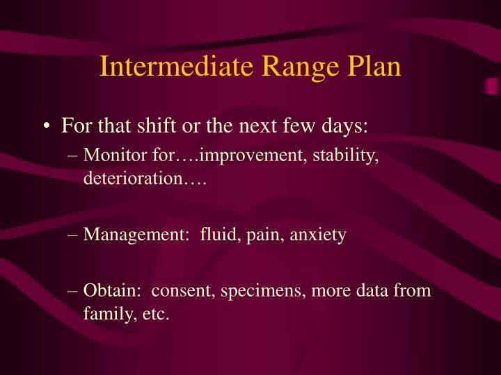 Intermediate Range Plan