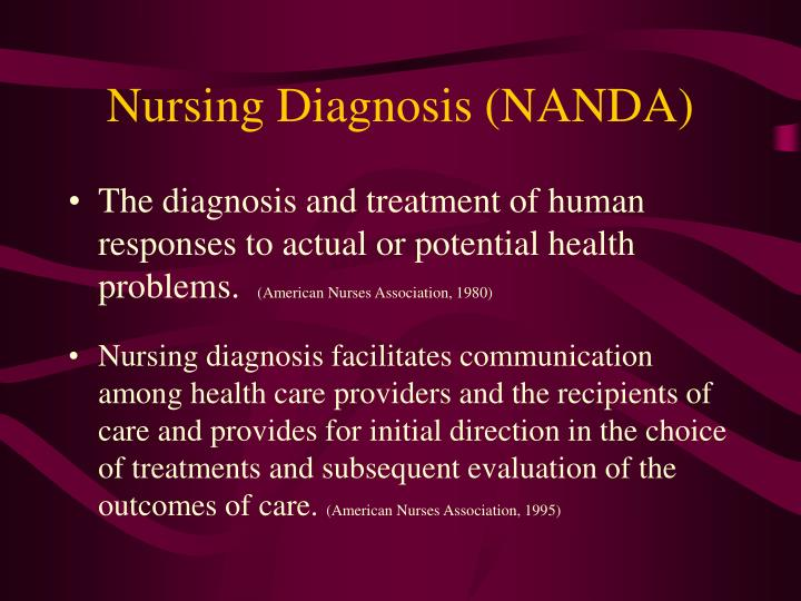 Nursing Diagnosis (NANDA)