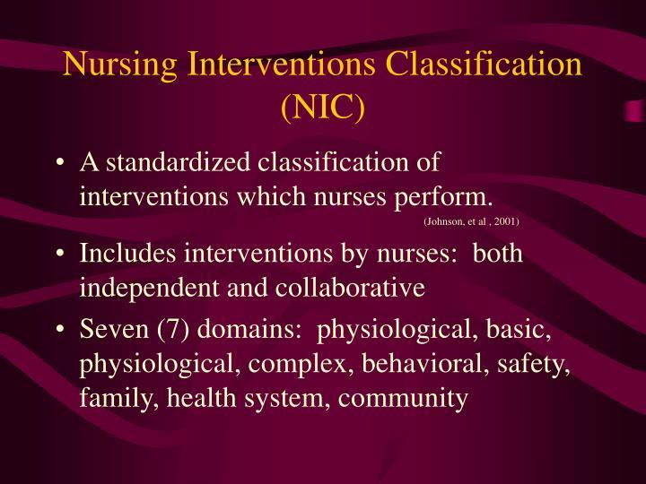 Nursing Interventions Classification (NIC)
