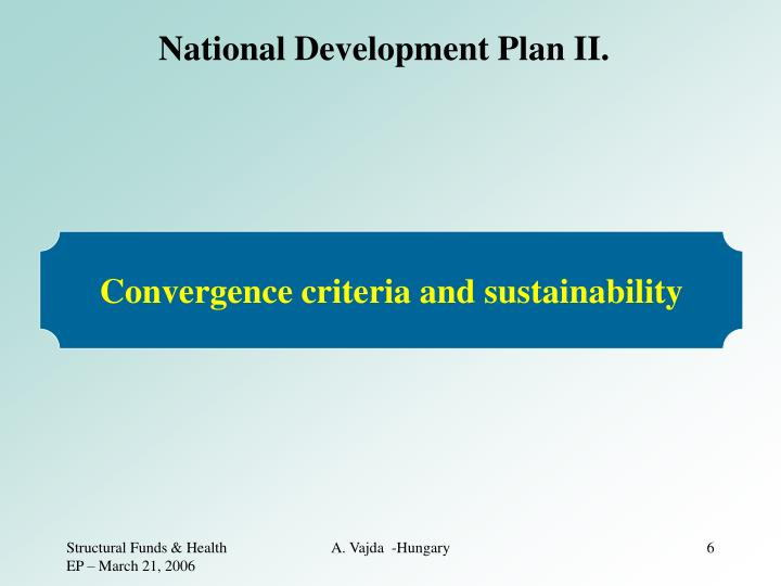National Development Plan II.