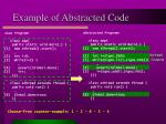 example of abstracted code