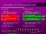 example of abstracted code1