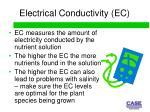 electrical conductivity ec