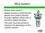 wick system