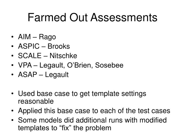 Farmed Out Assessments
