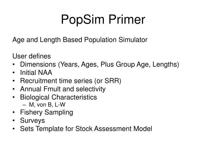 PopSim Primer