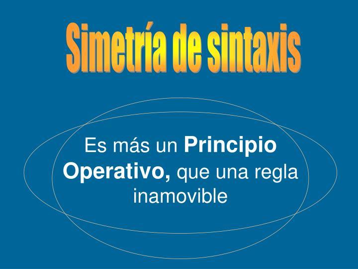 Simetría de sintaxis