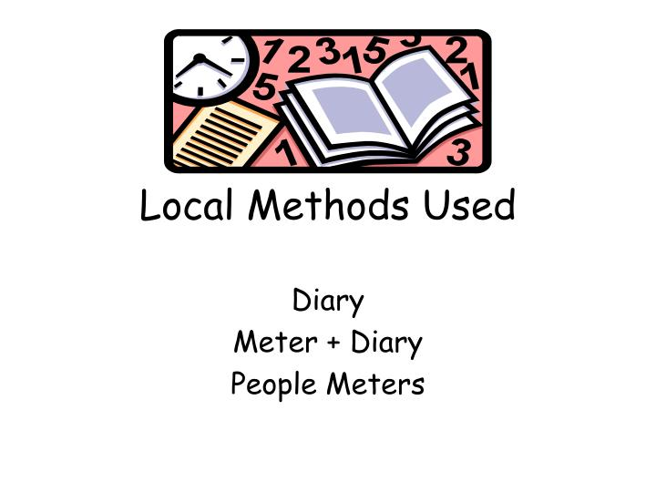 Local Methods Used
