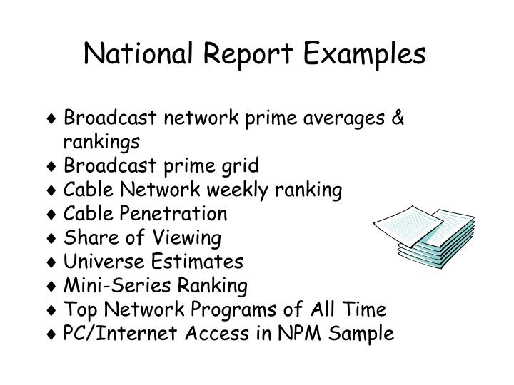 National Report Examples