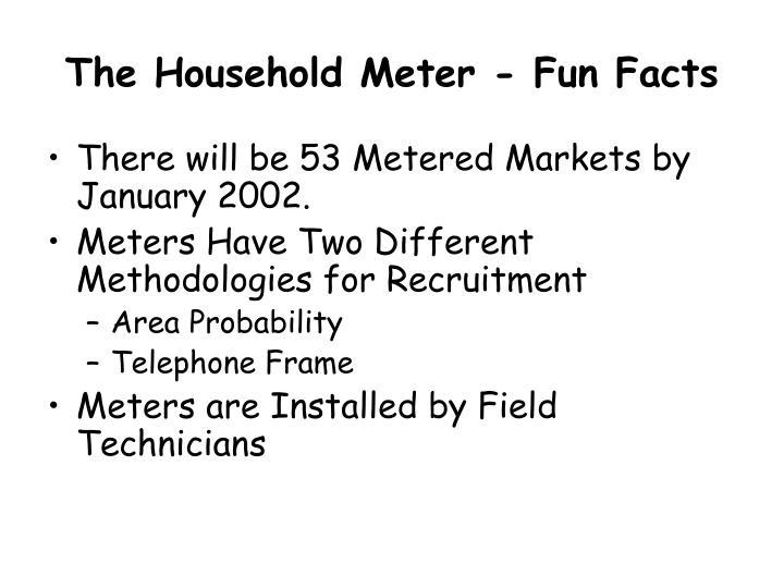 The Household Meter - Fun Facts