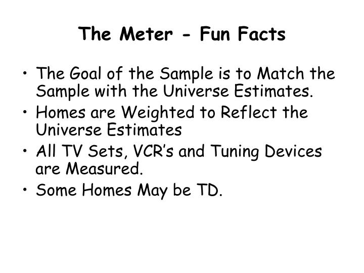 The Meter - Fun Facts