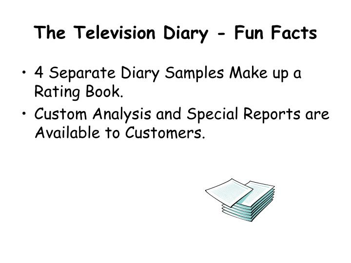The Television Diary - Fun Facts