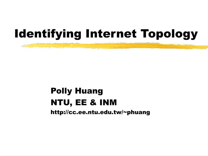 identifying internet topology