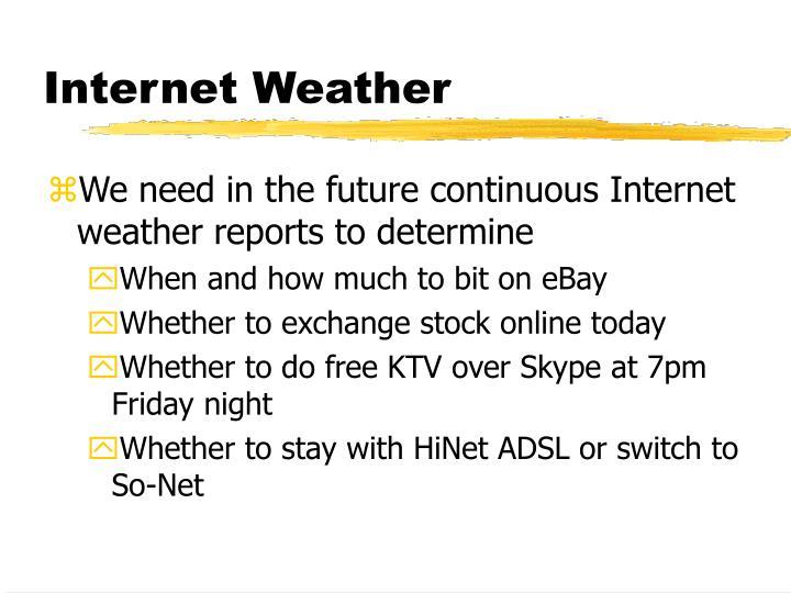 Internet Weather