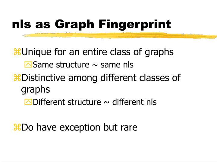 nls as Graph Fingerprint