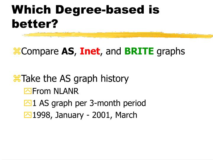 Which Degree-based is better?