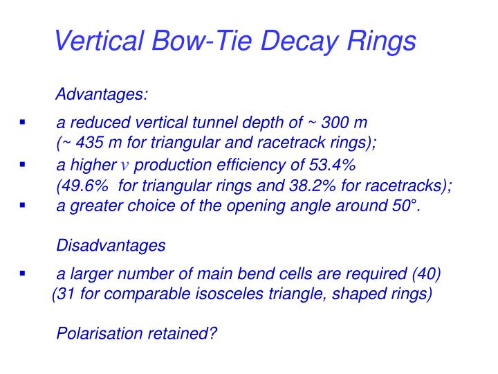 Vertical Bow-Tie Decay Rings