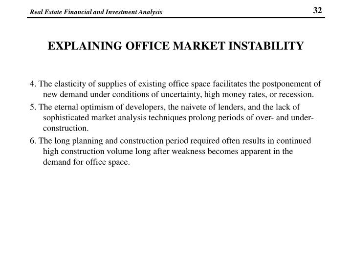 EXPLAINING OFFICE MARKET INSTABILITY