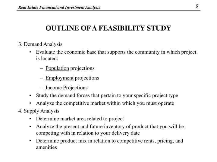 OUTLINE OF A FEASIBILITY STUDY