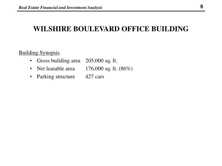 WILSHIRE BOULEVARD OFFICE BUILDING