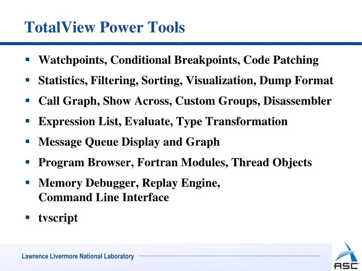 TotalView Power Tools