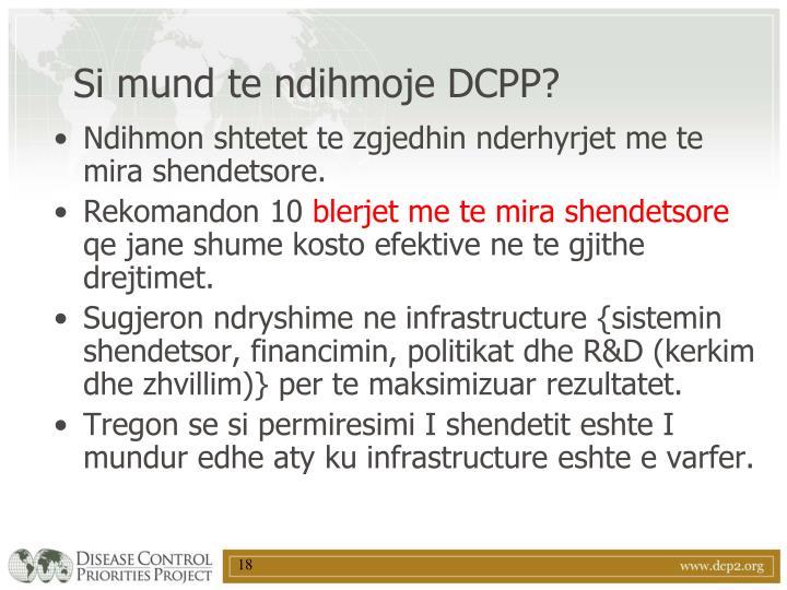 Si mund te ndihmoje DCPP?