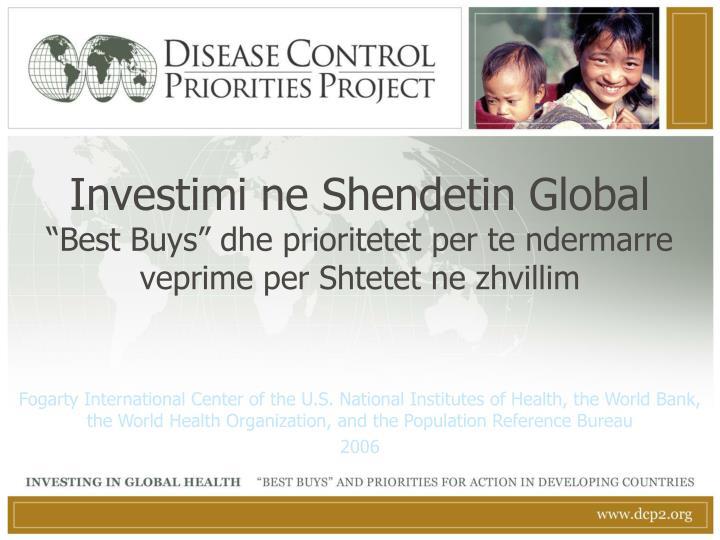 Investimi ne Shendetin Global