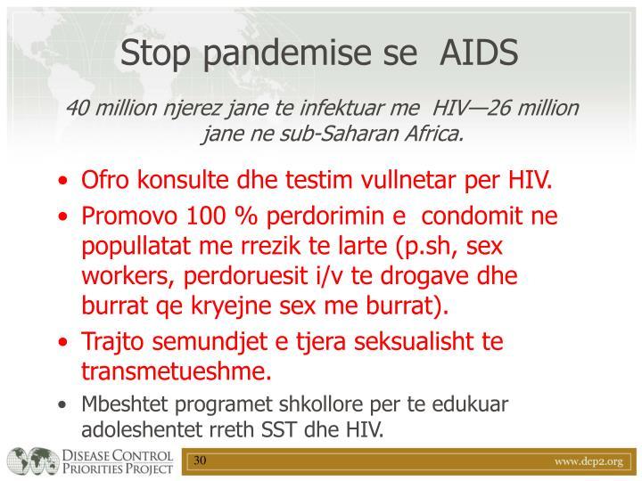 Stop pandemise se  AIDS