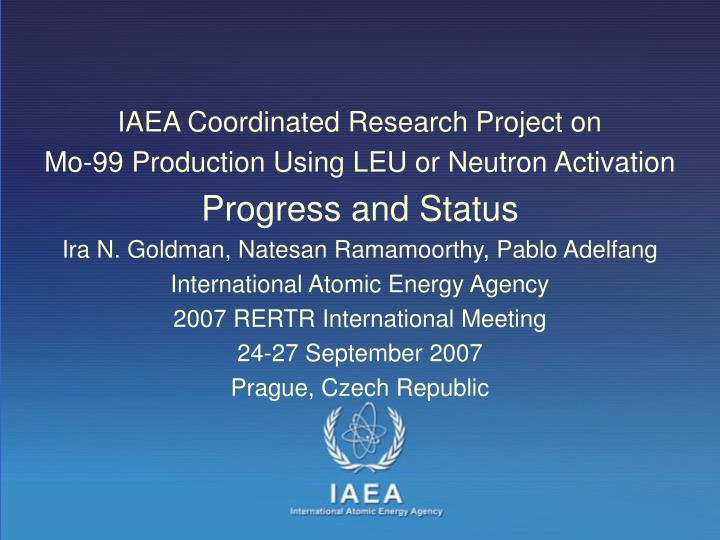 IAEA Coordinated Research Project on