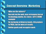 concept overview marketing