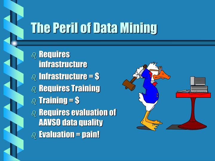 The Peril of Data Mining