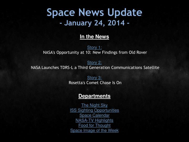 Space News Update