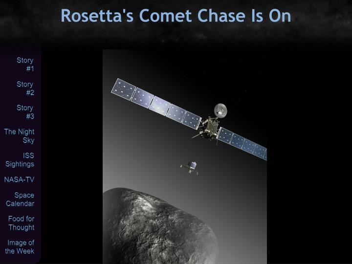 Rosetta's Comet Chase Is On