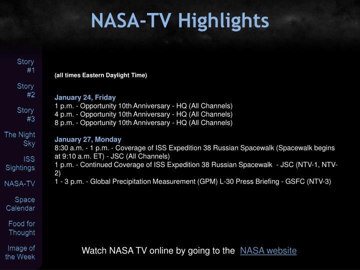 NASA-TV Highlights