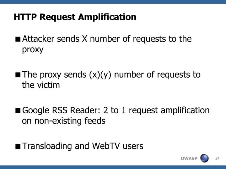 HTTP Request Amplification