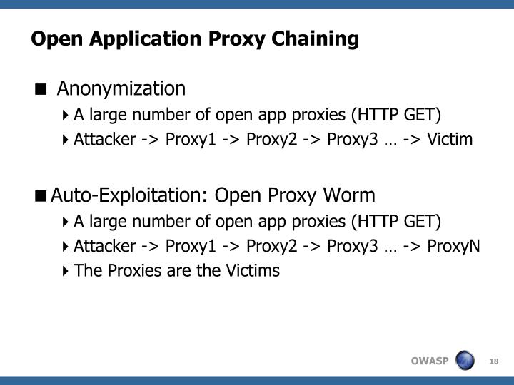 Open Application Proxy Chaining