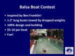 balsa boat contest