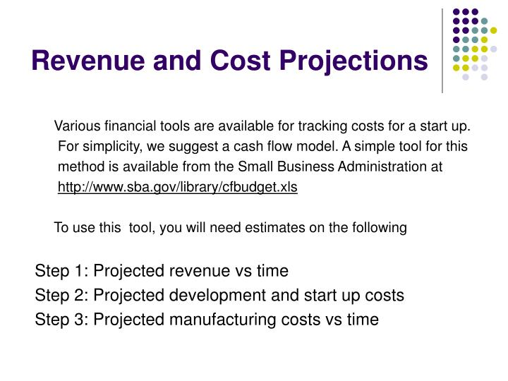 Revenue and Cost Projections