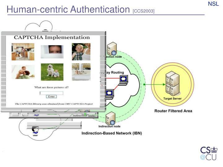 Human-centric Authentication