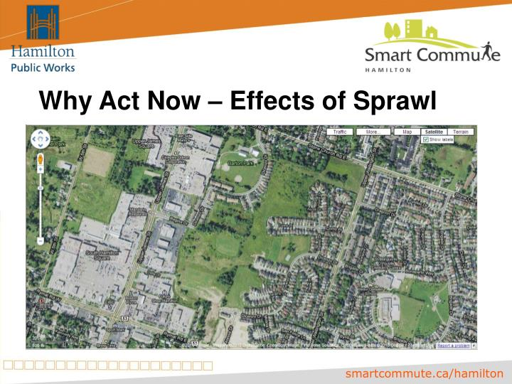 Why Act Now – Effects of Sprawl
