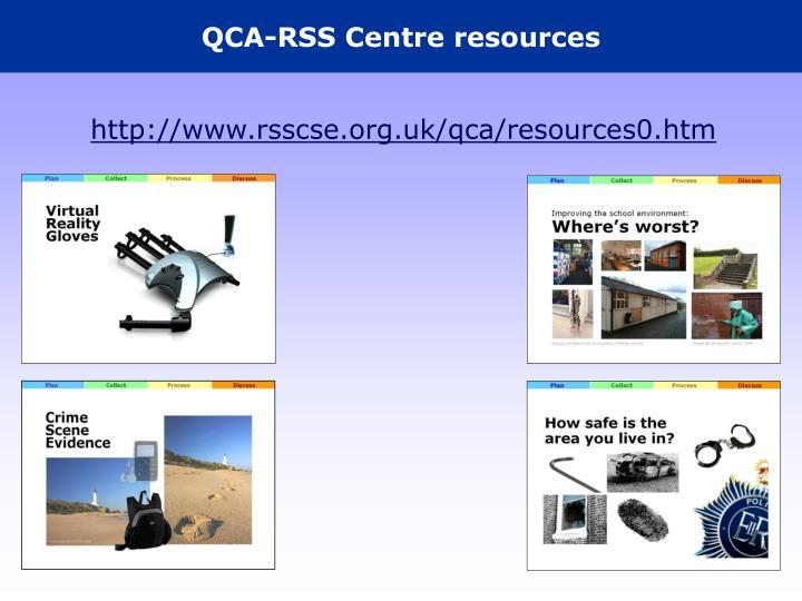 QCA-RSS Centre resources