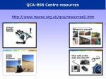 qca rss centre resources